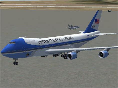 air force one installation air force one boeing 747 200 for fs2004
