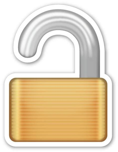 signe cadenas iphone open lock the o jays emojis and locks