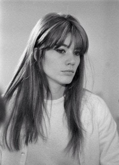 francoise hardy hair fran 231 oise hardy her fringe is medium full tapered from