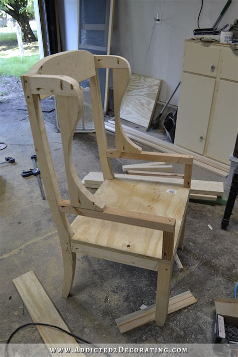 diy armchair upholstery diy wingback dining chair how to build the chair frame