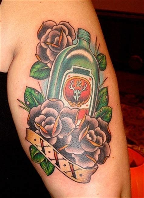 tattoo nightmares logo j 228 germeister roses tattoo haha cute just the logo