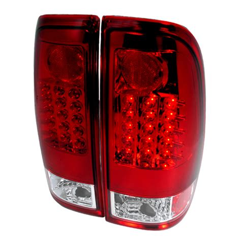 2006 f250 tail lights 97 06 ford f150 f250 f350 red clear lens led tail lights