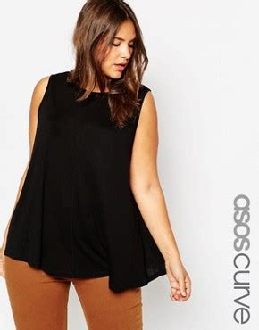 Asos Swing Top In Crinkle plus size clothing plus size fashion for asos