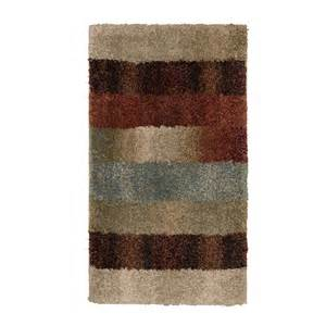 lowes accent rugs shop orian rugs fading panel rectangular cream transitional woven accent rug common 2 ft x 3