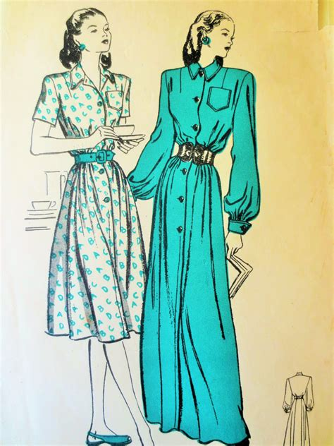 vintage pattern butterick vintage butterick 3895 sewing pattern 1940s dress pattern