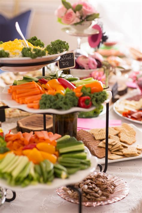 easy bridal shower food there are loads of ideas in this vintage wedding shower event 29