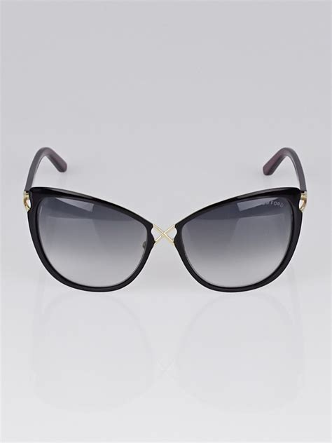 Frame Cat Eye 2003 tom ford black acetate frame cat eye celia sunglasses tf322 yoogi s closet