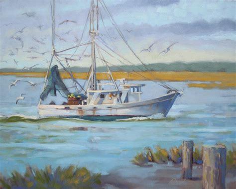 shrimp boat art edisto shrimp boat painting by todd baxter