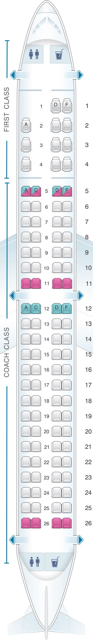 embraer erj 175 seat map seat map us airways embraer 175 seatmaestro