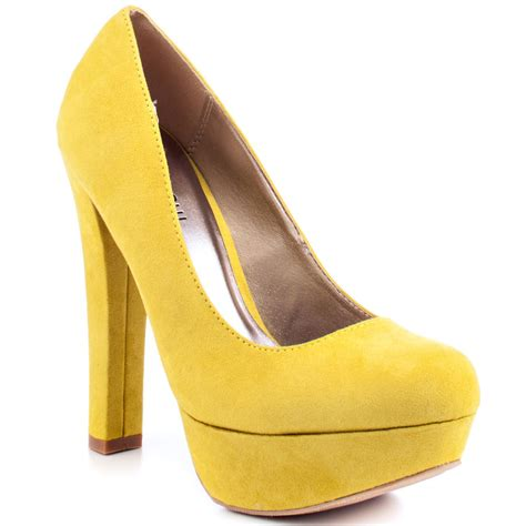 yellow shoes meghan yellow suede pu veda soul 59 99 free shipping