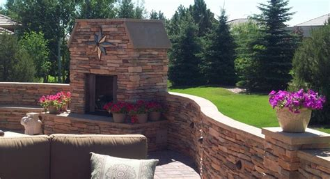 landscapers colorado springs terraced backyard design with radius walls landscaping network