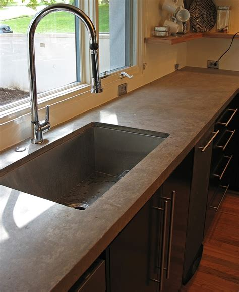 polished concrete countertops cost and cement