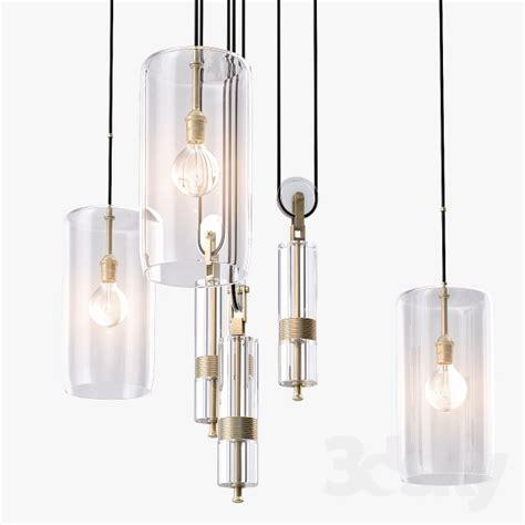 Counterweight Chandelier 3d Models Ceiling Light Hunt Counterweight Chandelier