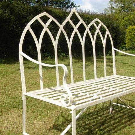 gothic garden bench cream gothic garden bench bliss and bloom ltd