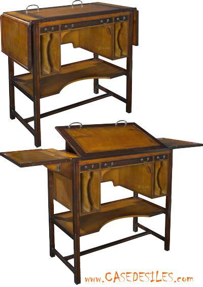 bureau architecte bois et laiton modulable mf087