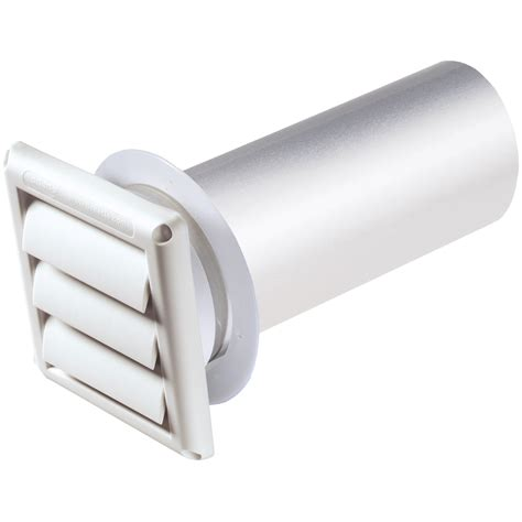 bathroom ventilation pipe 4 quot vent hood w pipe collar white unassembled deflecto llc