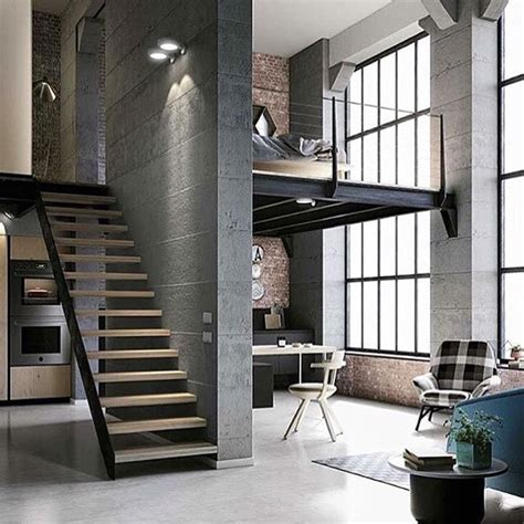 industrial loft apartment this would be great as work space for the family right off