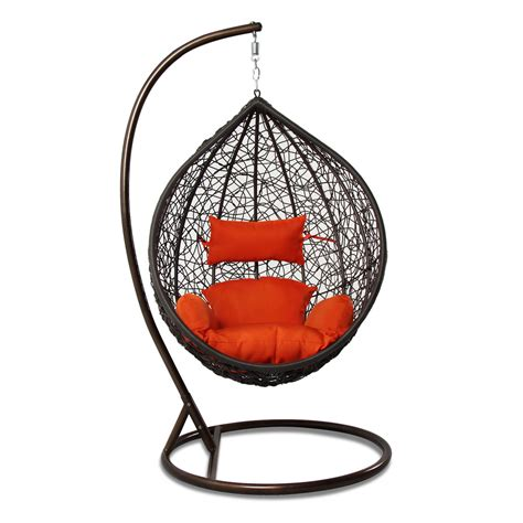 large outdoor wicker rattan free standing hanging egg rattan outdoor wicker hanging chair egg shape stand porch