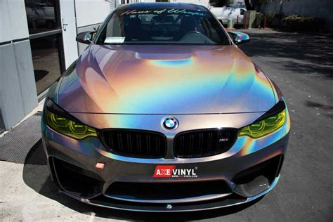 holographic car grey gloss flip psychedelic holographic metallic finish