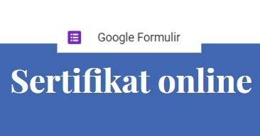 membuat sertifikat  google form auto send email