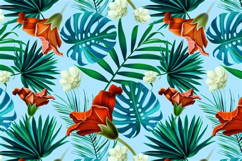 tropical wallpaper pattern tumblr cool hawaiian flowers background
