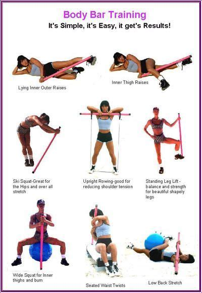 image result  exercises  weighted bar body bar