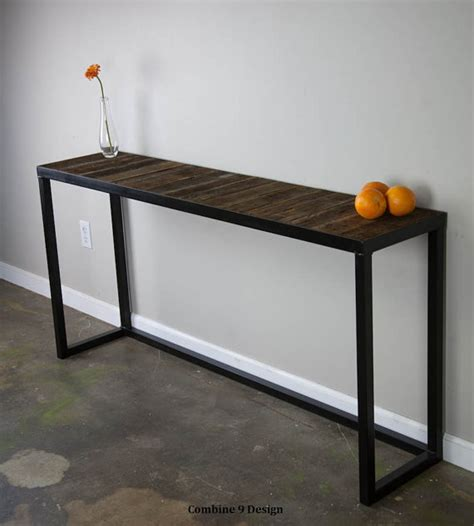 reclaimed wood sofa table sofa table with reclaimed wood modern vintage mid