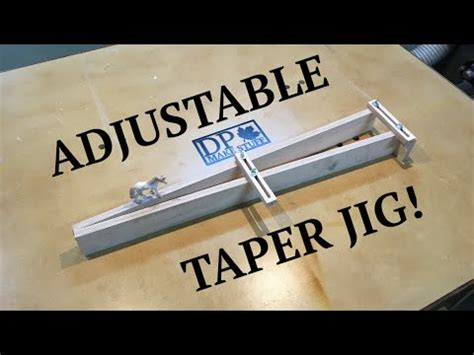 adjustable taper jig  table  cheap  easy youtube