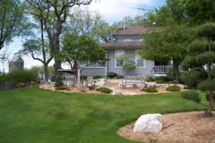 farmhouse casual patio wisconsin landscape design portfolio rustic road landscaping wisconsin