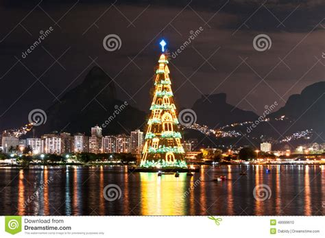 xmas tree structure tree structure in de janeiro stock photo image 48999610