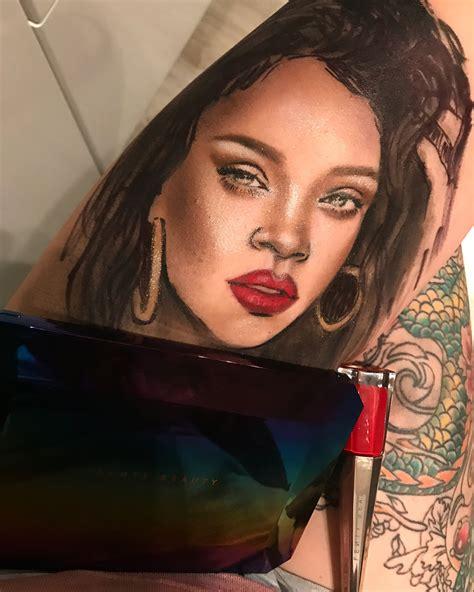 tattoo artists make tattoo artist makes portraits of rihanna using her makeup