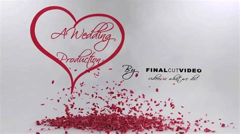 After Effects Wedding Intro Youtube Wedding Intro After Effects Templates
