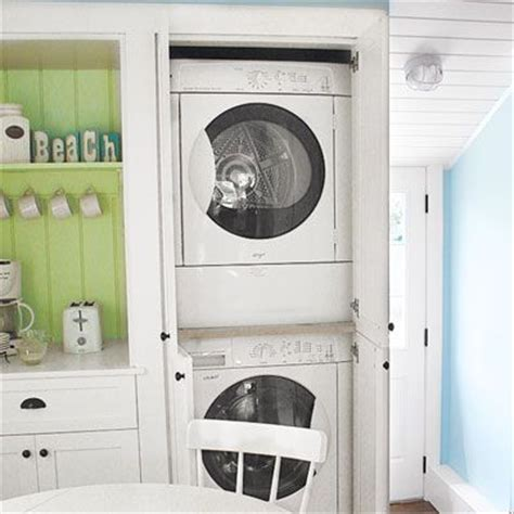 Washer And Dryer Hidden In Cabinetry