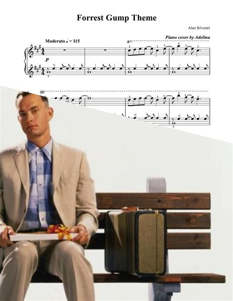 themes in the film forrest gump quot forrest gump theme quot alan silvestri piano sheet music