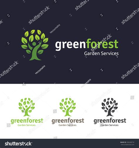 Green Forest Logopeople Tree Logovector Logo Stock Vector 330208718 Shutterstock Green Tree Vector Logo Design Template Stock Vector More Images Of 2015 465664290 Istock