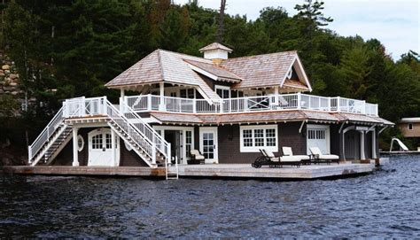 living on a boat in ontario a muskoka lake house and boat house for guests boathouse
