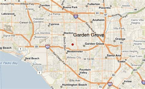 Garden Grove Ca Directions Garden Grove California Map And Garden Grove California