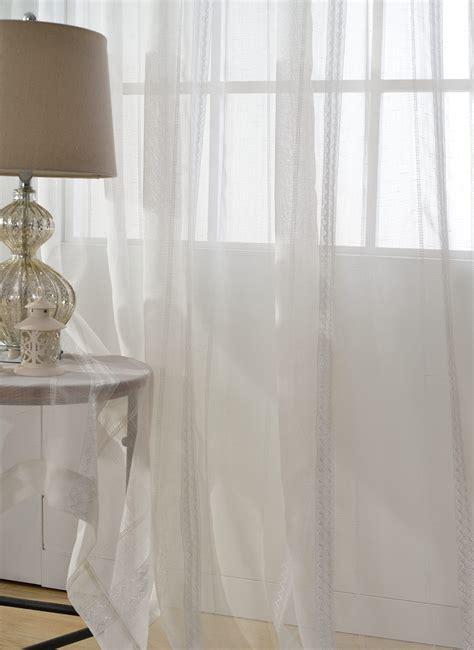 Sheer Geometric Curtains 2xcustom Ivory White Modern Simple Contemporary Stripe Geometric Sheer Curtain Ebay