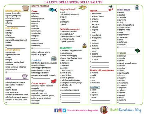 lista spesa alimentare lista della spesa della salute annamaria acquaviva
