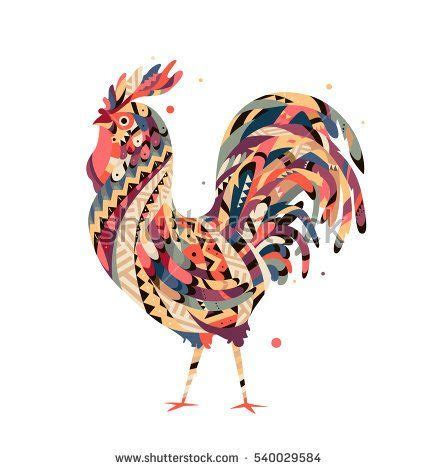 tribal rooster tattoos 85 best tcc stock imagery images on vector