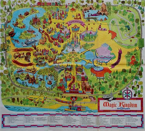 1971 original map of the magic kingdom photograph by rob hans