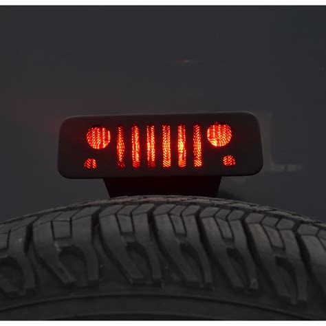 jeep jk grill logo jk 3rd brake light guard jeep tweaks jt12 b