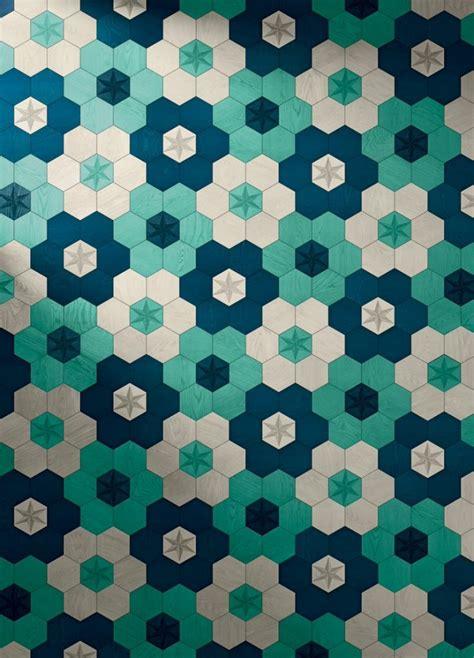 geometric pattern vans hexagonal parquet wood floor tiles by edward van vliet for