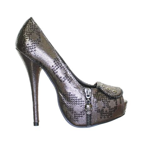 pewter high heels womens iron ruff rider platform pewter skull high