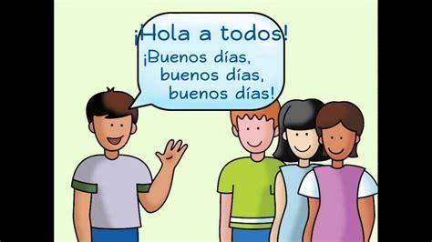 greeting song hola a todos a greeting song calico