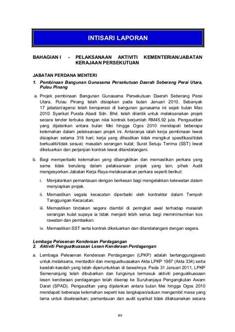 laporan ketua audit negara 2010
