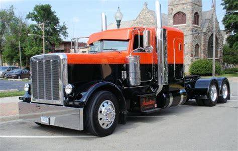 orange black peterbilt paint colors no matter 379 or 389 peterbilt color guide