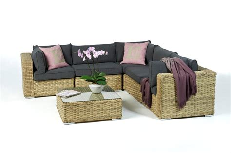qualität teak gartenmöbel mykonos rattan lounge light brown rattan garden