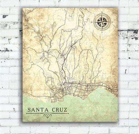 canva ucsc santa cruz ca canvas print california vintage map santa cruz