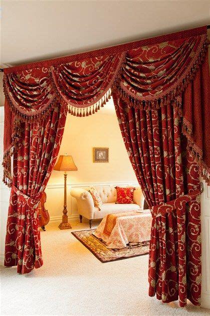 decadent rich red curtain set  transform